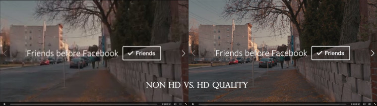Facebook video HD quality comparison