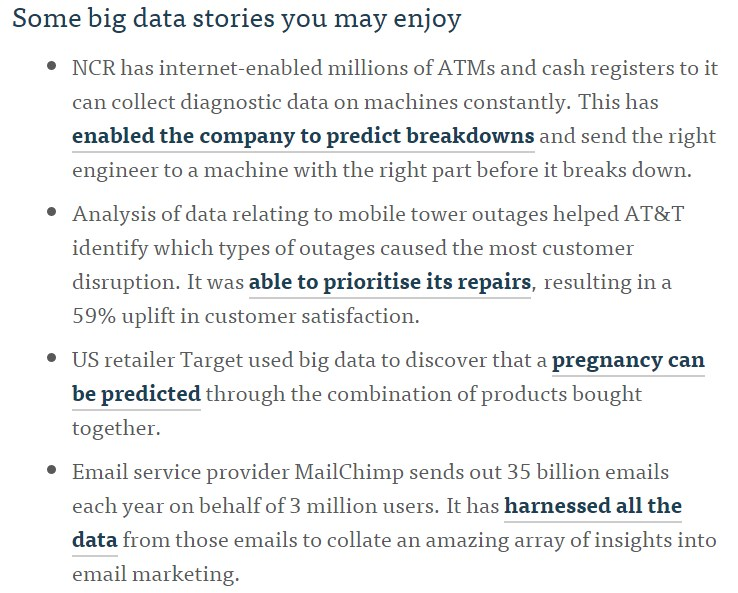 big data stories - using external sources within white papers