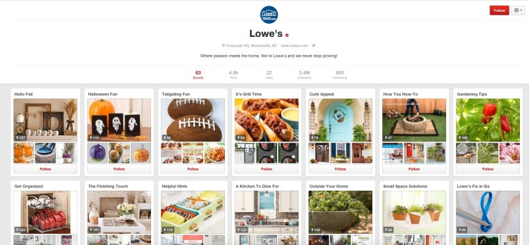 lowes pinterest
