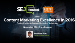 Next #SEJThinkTank Webinar: Content Marketing Excellence in 2016