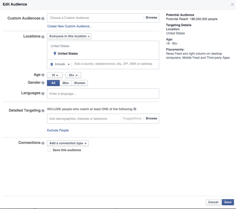 About Facebook's Detailed Targeting | Search Engine Journal