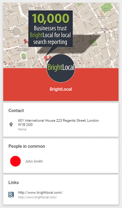 New Google+ Page info page