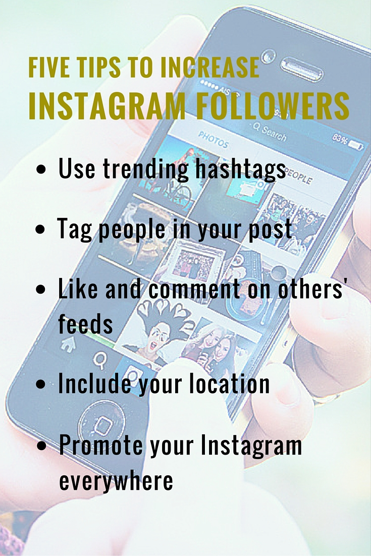 Five Tips to Increase Instagram Followers