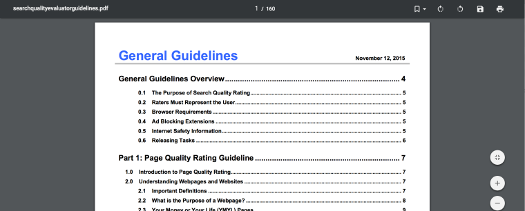 Content Standards by Google Search Guidelines | SEJ