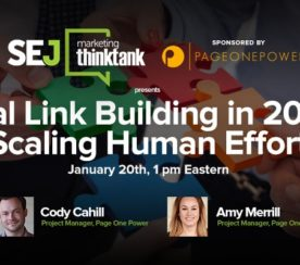 #SEJThinkTank Recap: Real Link Building in 2016: Scaling Human Effort