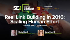 Next #SEJThinkTank Webinar: Real Link Building in 2016: Scaling Human Effort