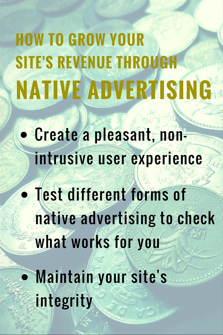 How to Grow Your Site's Revenue through Native Advertising