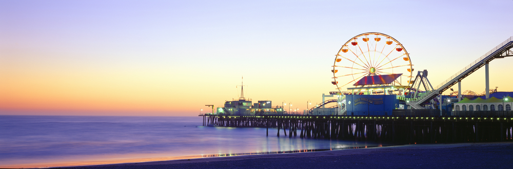 gorgeous view of santa monica pier