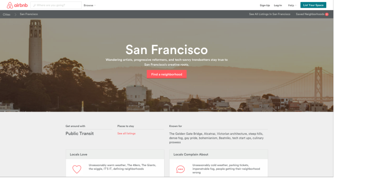 San Francisco Airbnb Travel Guide Example for Local SEO | SEJ