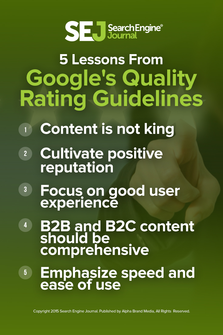 5 Lessons From Google's Quality Rating Guidelines