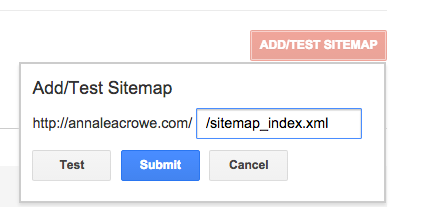 Google Search Console Submit Sitemap