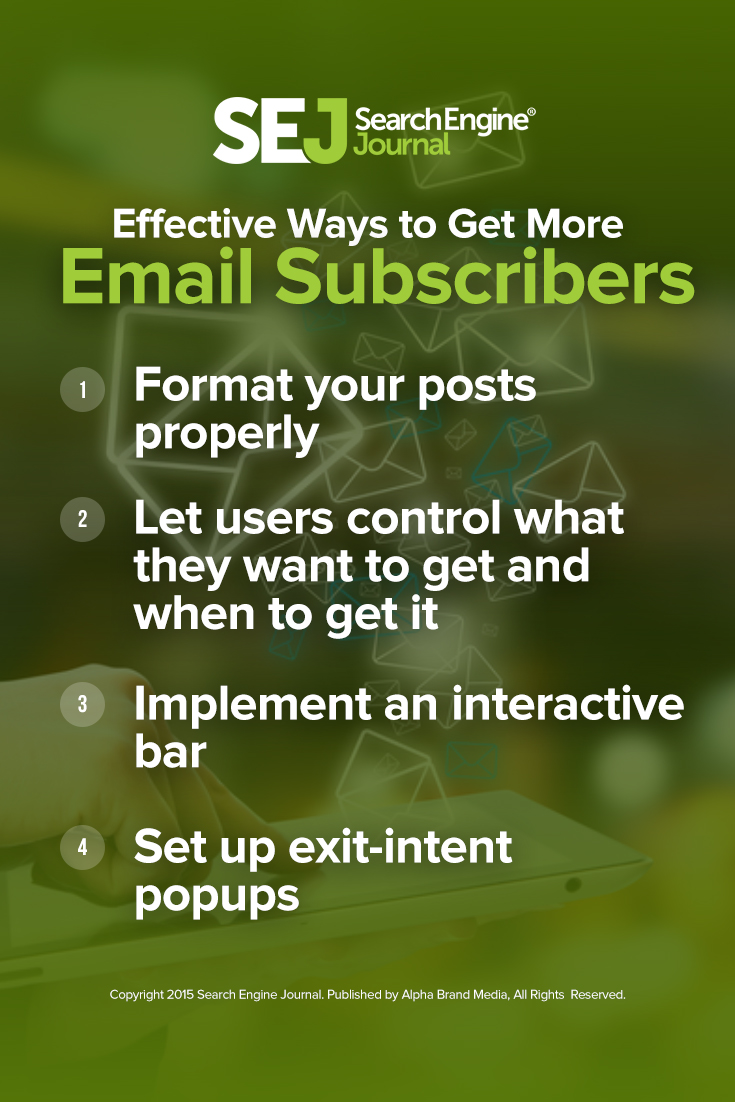 Effective Ways to Get More Email Subscribers
