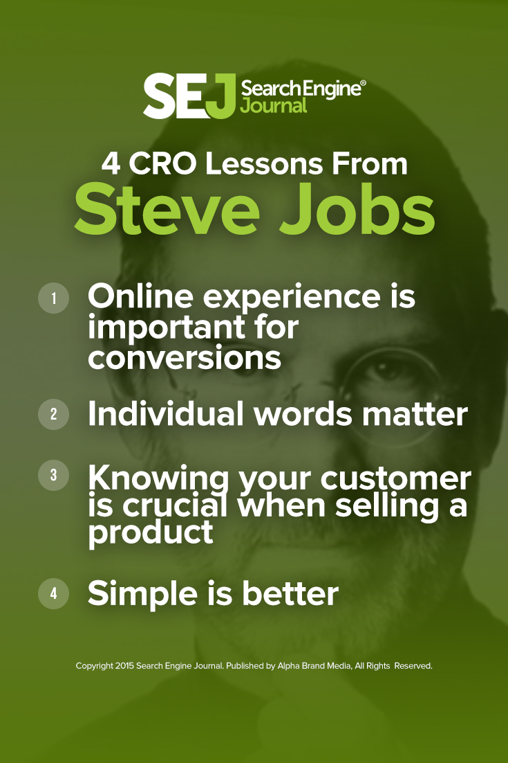 Four CRO Lessons from Steve Jobs