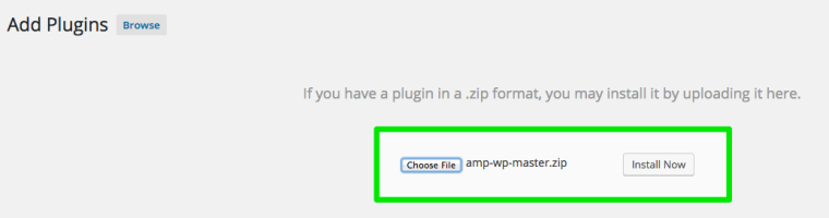 Google AMP Install WordPress Plugin
