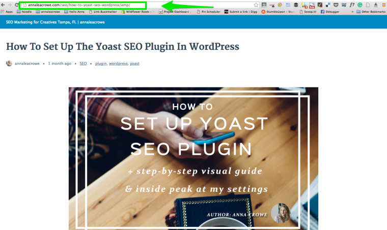 Google AMP WordPress Plugin Add AMP to URL