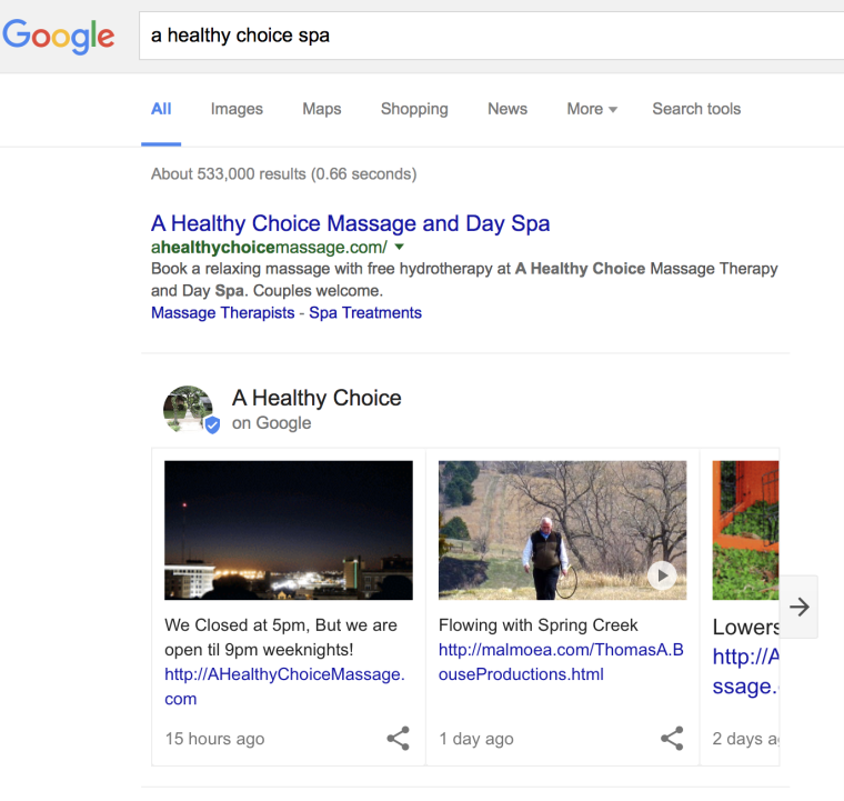Impact of Google\'s Local Business Card on Search | SEJ