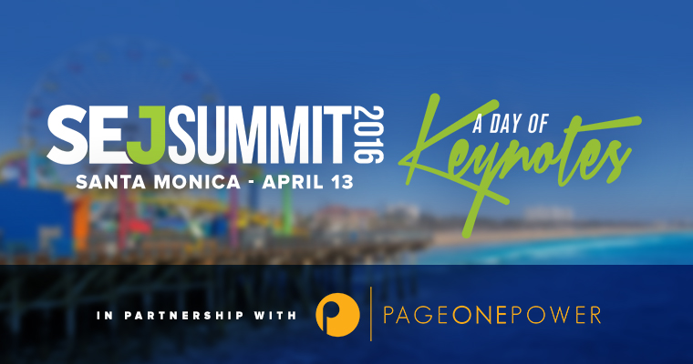 Page One Power to Partner With #SEJSummit 2016