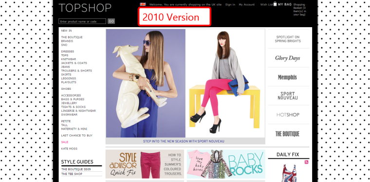 Example TopShop 2010