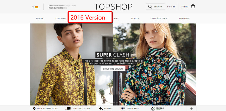 Example TopShop 2016