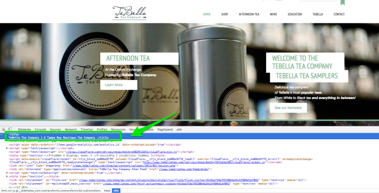 Google Local Search Results TeBella Tea Company