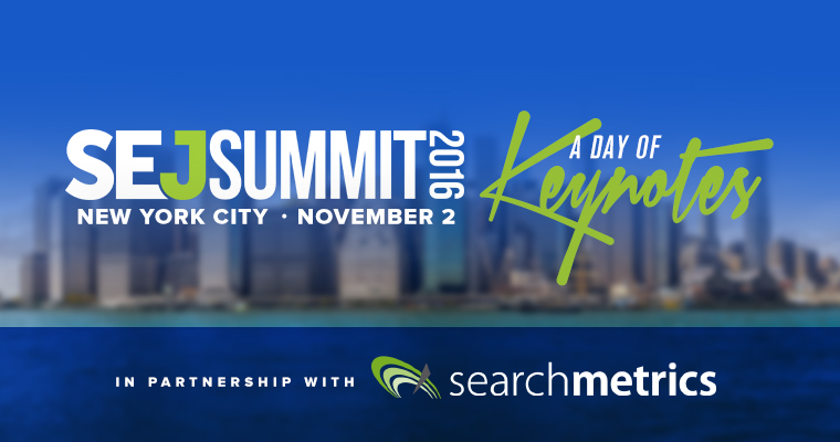 #SEJSummit NYC In Partnership With Searchmetrics