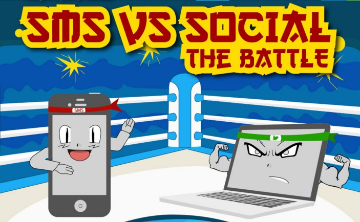SMS vs Social Media - Infographic by Textlocal