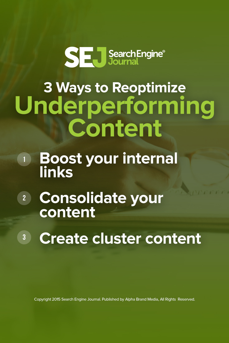 Three Ways to Reoptimize Underperforming Content