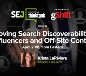 #SEJThinkTank Recap: How to Improve Search Discoverability w/gShift Labs