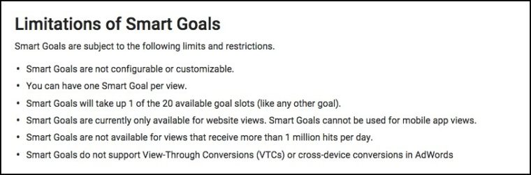 Why AdWords' Smart Goals are Pretty Cool for Certain Advertisers