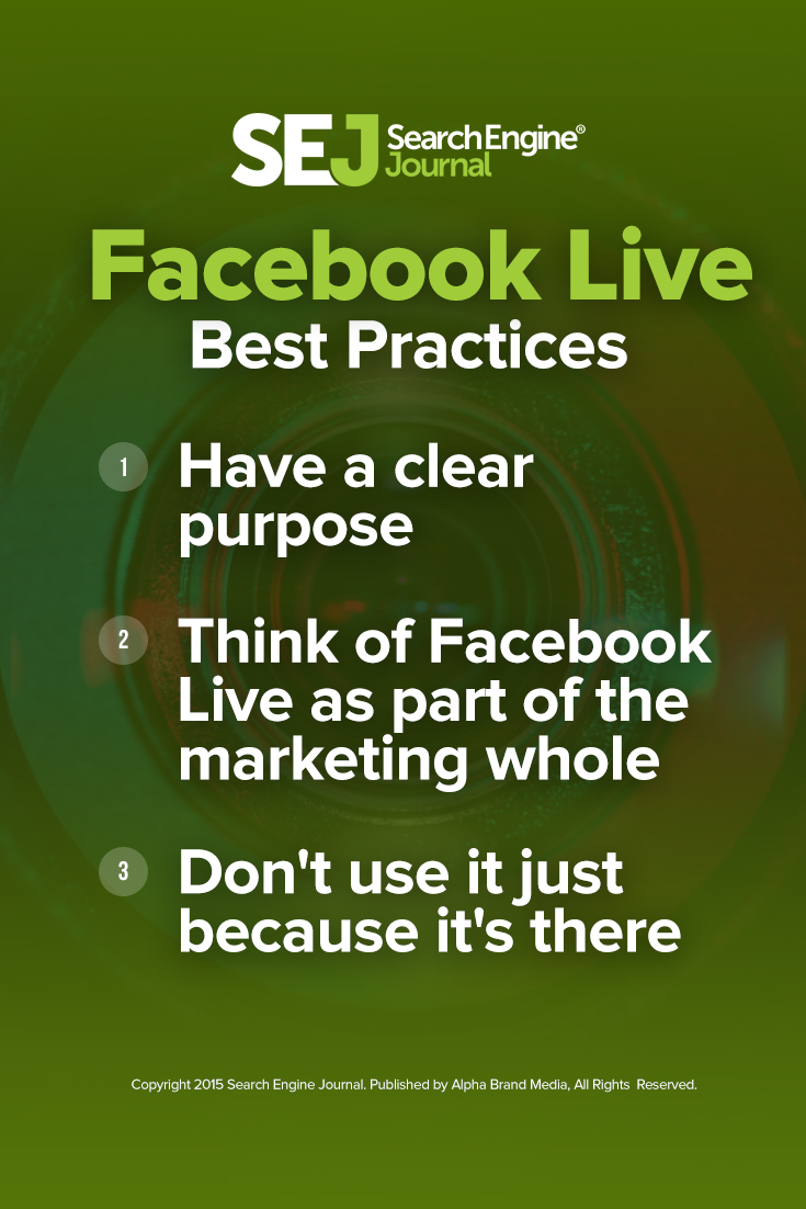 Facebook Live Best Practices