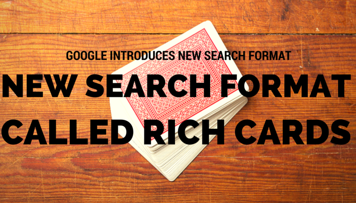 Google's Rich Cards Are Like Rich Snippets, in Card Form