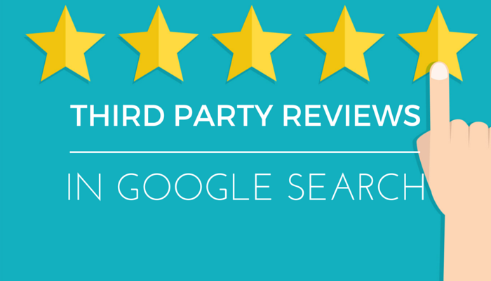 New Google Test: Third Party Reviews in Search Results