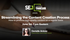 SEJ ThinkTank webinar content marketing banner