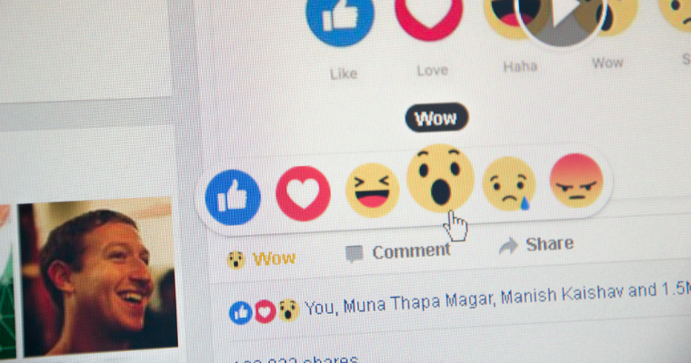 Facebook Reactions Rarely Used [STUDY]