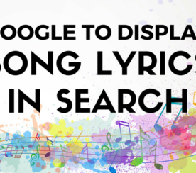 Google Will Now Display Song Lyrics in Search Results