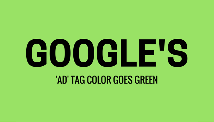 Google 'Ad' Tag Color Changed to Green, Same Color as URL