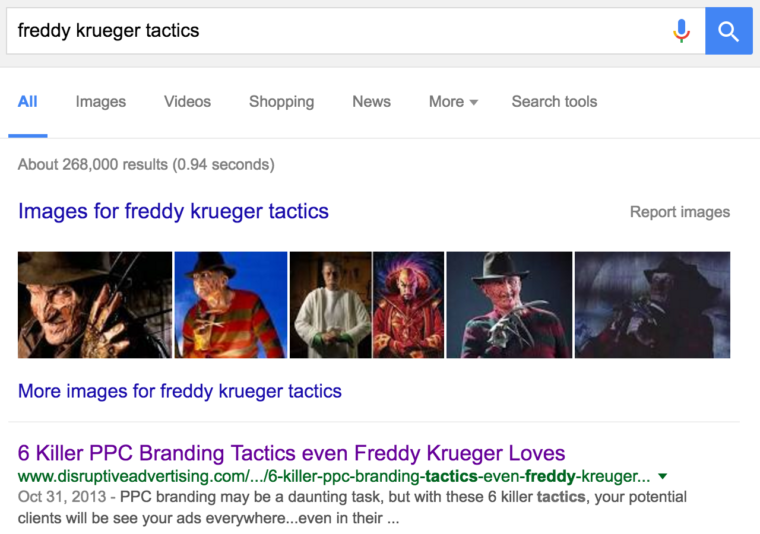 Ranking for Freddy Krueger Tactics