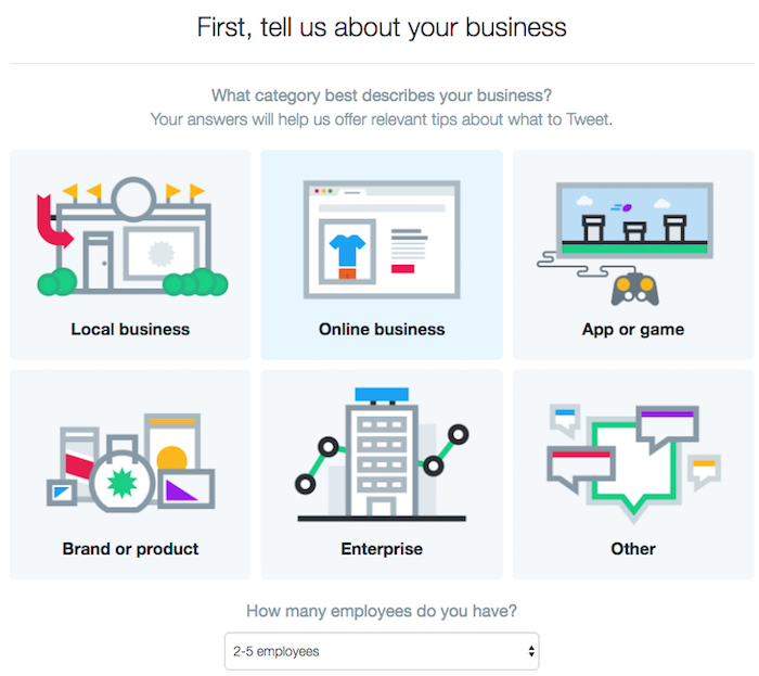 Tell Twitter about your business