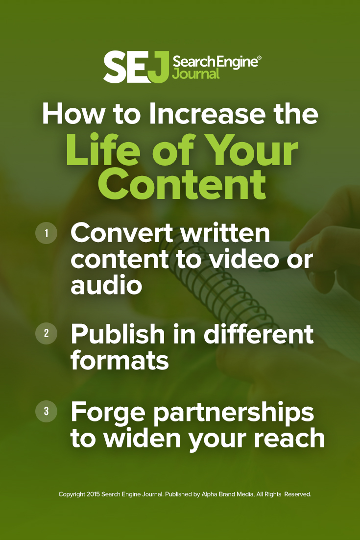 How to Increase the Life of Your Content