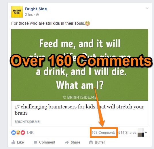 Social Media Comments - Facebook