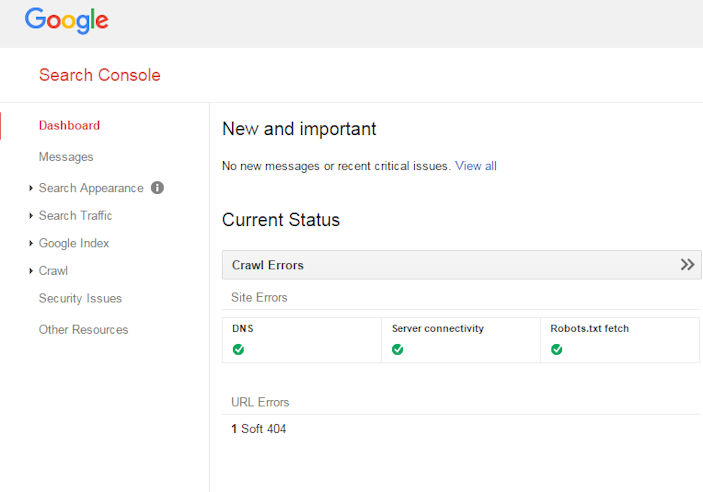 Where to Find Search Console Messages