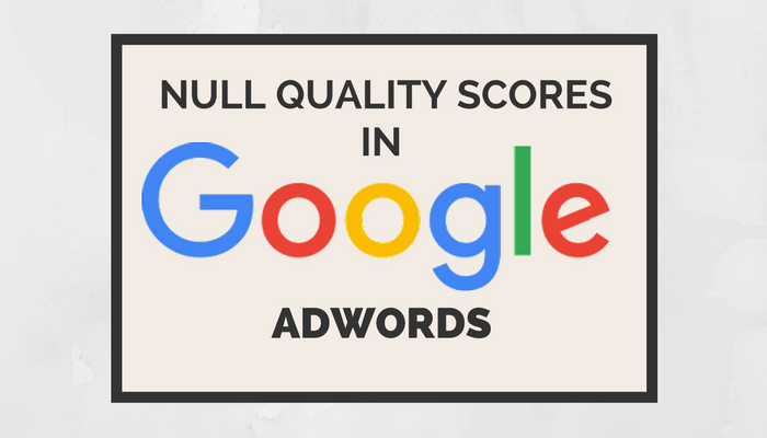 Google AdWords Returning Null Quality Scores Starting September 12