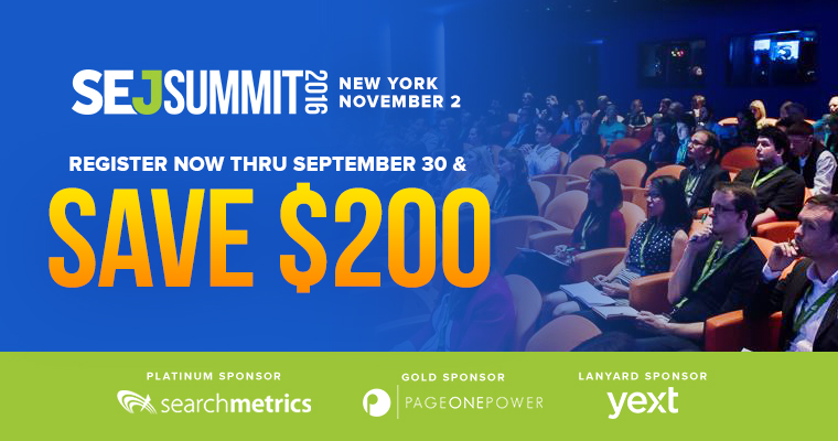 Agenda Announced for #SEJSummit New York