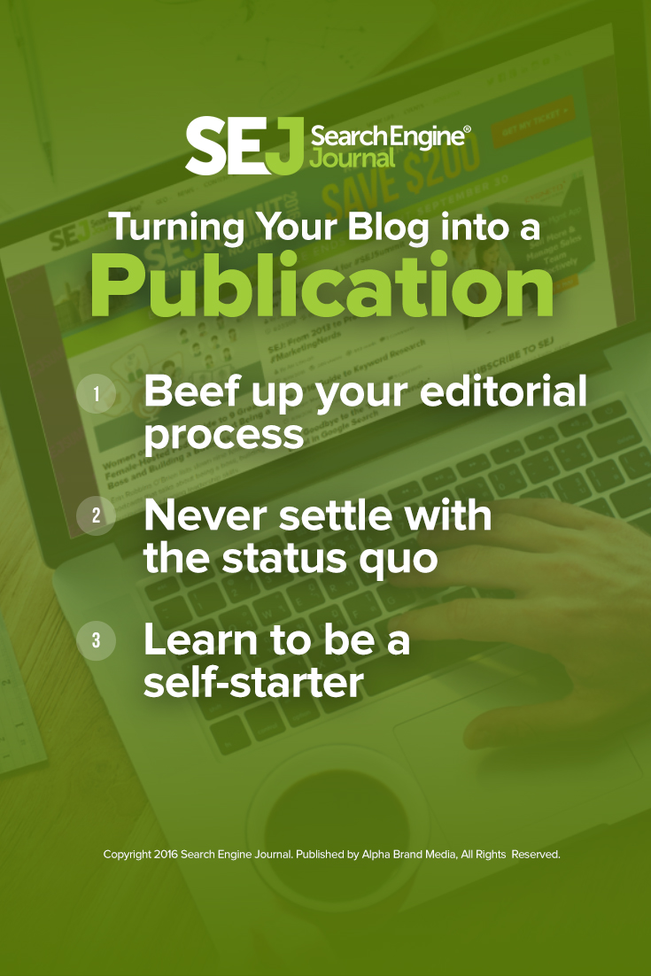 Turning Your Blog into a Publication