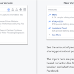 Facebook Trending before and after