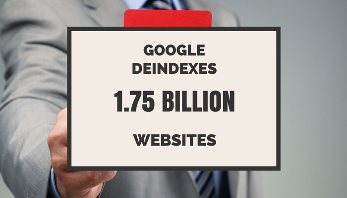 1.75 Billion Websites Removed from Google Search Results