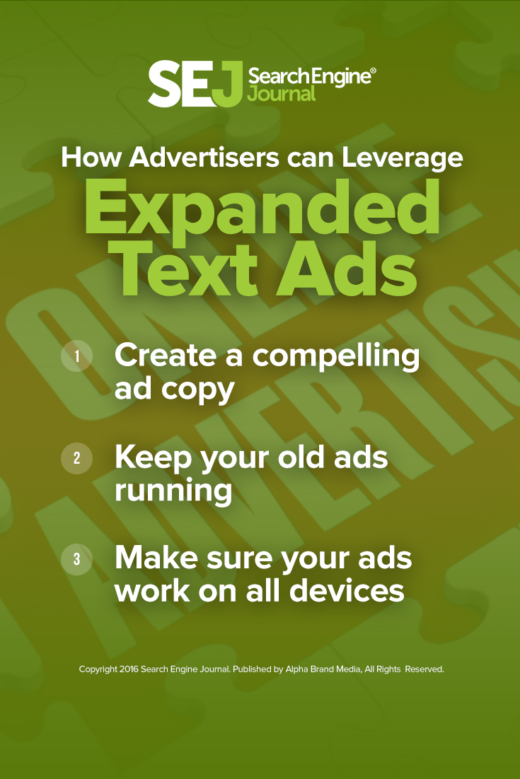 How Advertisers can Leverage Expanded Text Ads