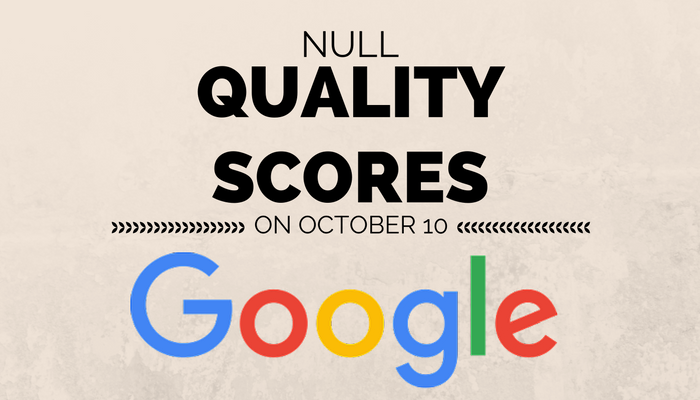 Google Continues to Display Quality Score Data Until October 10