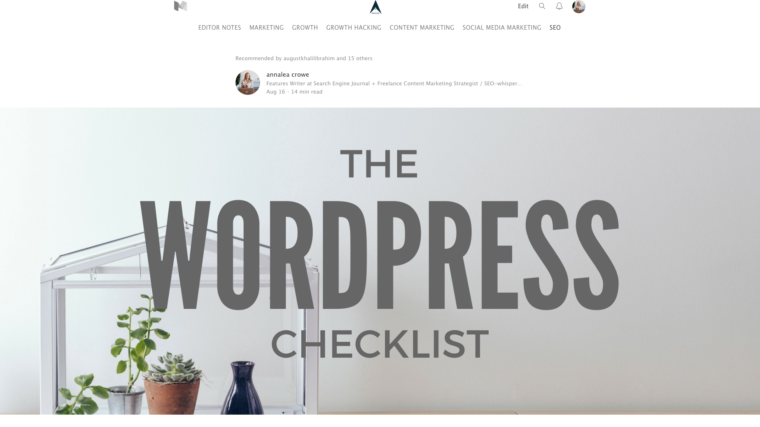 the wordpress checklist medium header image