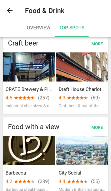 Google Trips London Food & Drink